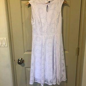 Lori M Collection White Dress